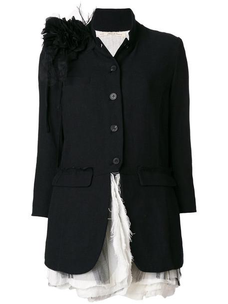 Aleksandr Manamïs jacket women floral cotton black wool