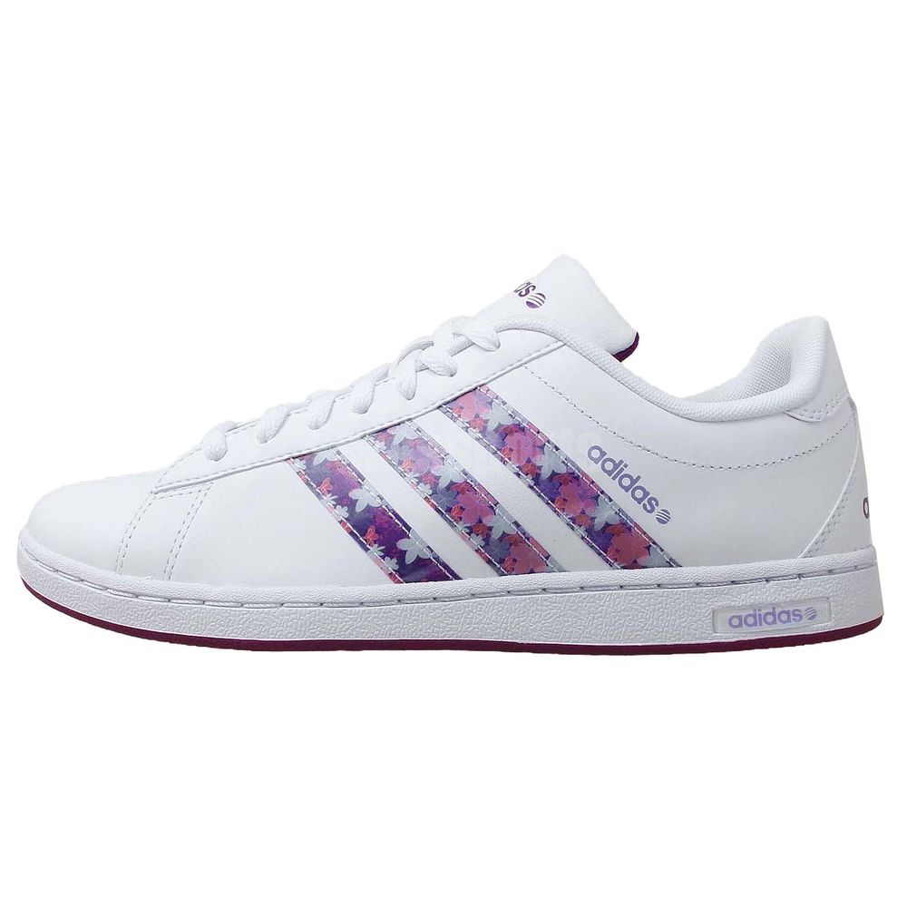 Adidas Derby w Neo Label White Purple Floral 2014 New Womens Casual Shoes | eBay