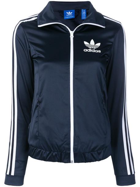 Adidas jacket women spandex blue
