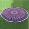 Violet mandala beach roundie tapestry
