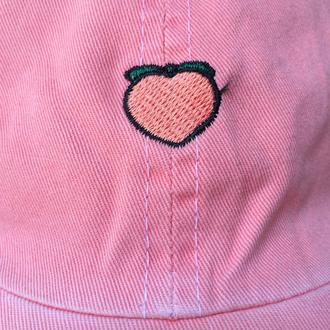 hat peach pink tumblr pale grunge 90s style baseball hat baseball cap cute baseballhat pink cap cap