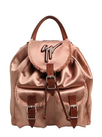 backpack silk satin pink bag