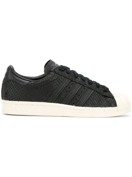 Adidas women sneakers leather black shoes