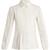 Lace-insert pleated-bib cotton shirt