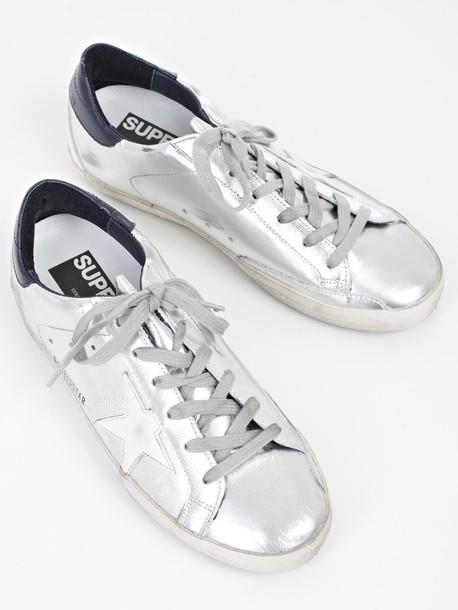 Golden goose sneakers blue cream shoes