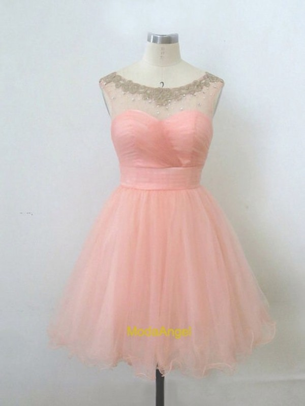 dress prom pwach vintage soft pink pink dress
