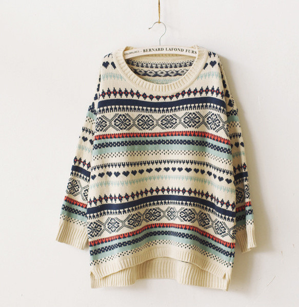 Heart Line Vintage Sweater | Outfit Made