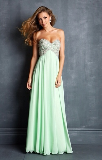 dress prom dress long prom dress prom green prom dress sequin prom dress color brand mint green green dress strapless mint dress beautiful green dress strapless dress dolcepromdress.com blue green sea green sequence