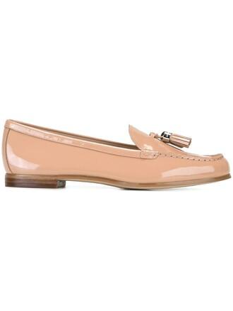 tassel women loafers leather purple pink shoes