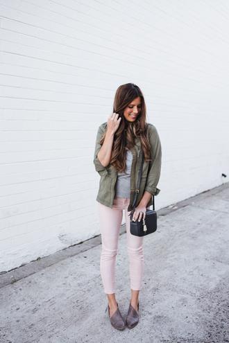 mint arrow blogger t-shirt bag jacket jeans