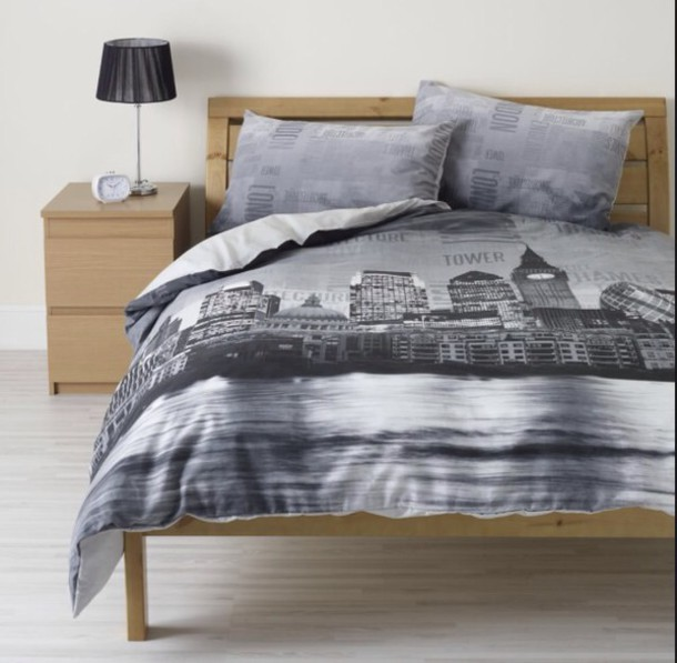 Pajamas New York Bedding Bed Linen Black And White