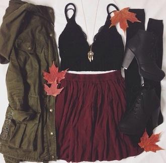 jacket jewels shirt shoes skirt