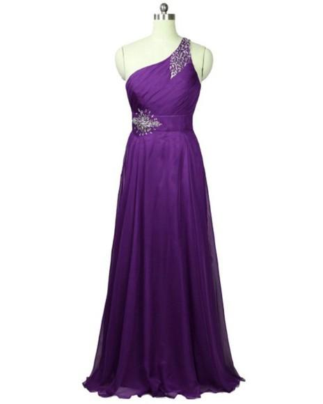 prom prom dress prom dresses 2014 one-shoulder prom dress one-shoulder evening dress one-shoulder evening gown one-shoulder prom gown purple dress purple purple prom dresses