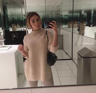 sweater cream nude beige