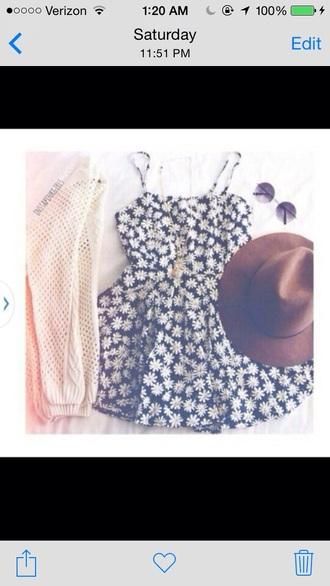 dress flowers floral floral dress cardigan necklace jewels