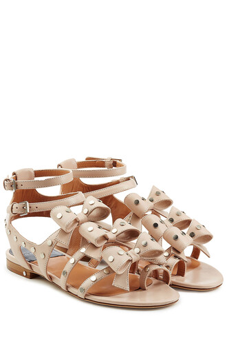 embellished sandals leather sandals leather rose shoes