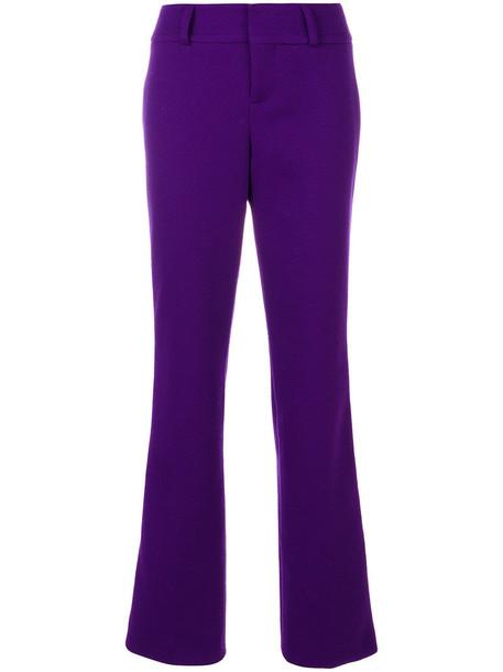 MARNI women wool purple pink pants
