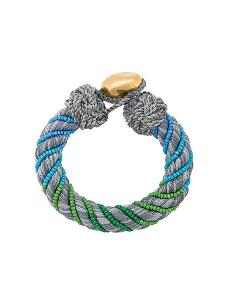 AURELIE BIDERMANN cuff women cuff bracelet grey jewels