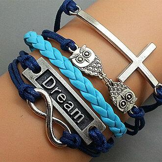 jewels bracelets owl mixed color
