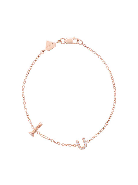 Alison Lou rose gold rose women gold grey metallic jewels