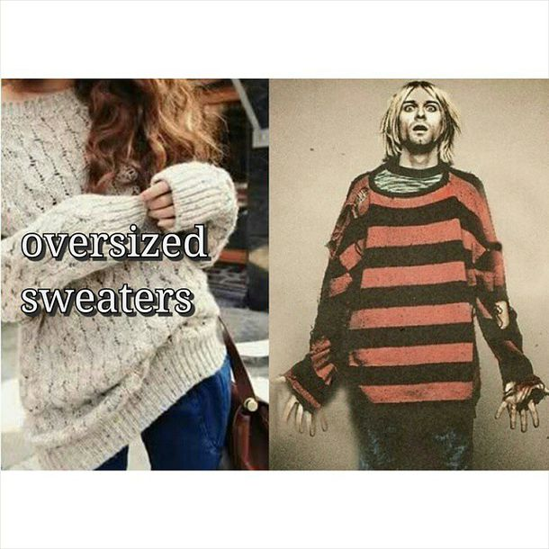 kurt cobain oversized sweater
