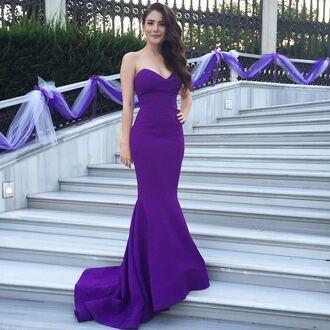 dress long dress purple