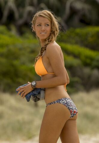 swimwear bikini bikini bottoms bikini top blake lively summer beach