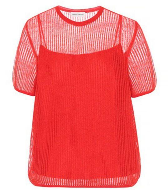 Mansur Gavriel Mohair-blend sweater in red