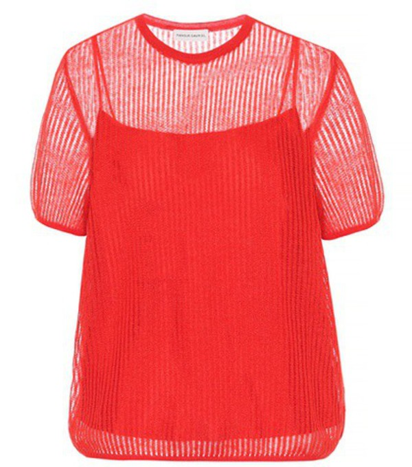 Mansur Gavriel Mohair-blend sweater in red