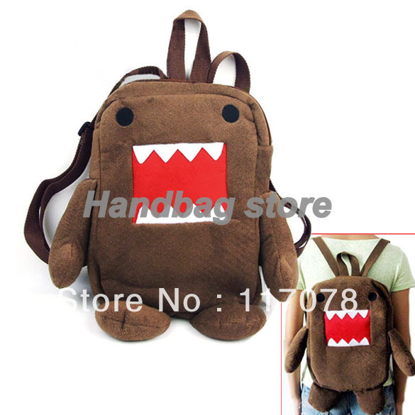 children Cute Domo Kun Design Figure Cartoon Backpack bag children's schoolbag Soft Shoulder School Bag 2866-in Backpacks from Luggage & Bags on Aliexpress.com