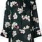 Marni distal print ruffle blouse, women's, size: 40, green, silk