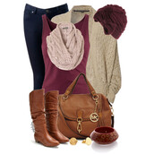 shoes,casual,cardigan,jeans,bag,scarf,chunky bracelet,boots,earrings,bows,hats and beanies,sweater,hat,t-shirt