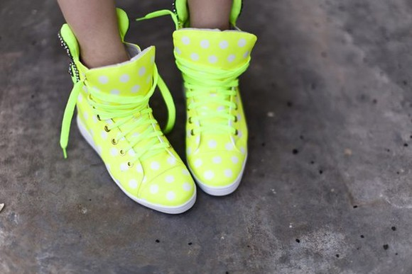shoes yellow shoes basket sneakers high top sneaker
