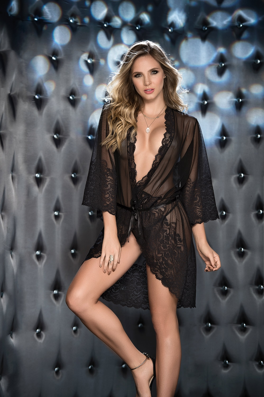 Romance Black Luxury Robe