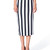 Valentina Black & White Stripes Midi Skirt