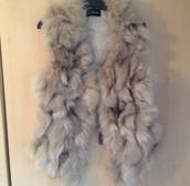 jacket,grey,rabbit fur,real fur,fur gilet,faux fur,faux fur jacket