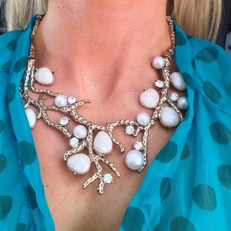 jewels pine jewelry's perched pearl necklace necklace pine jewelry statement neckpiece pearl