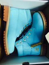 shoes,blue,timberlands,boots,blue boots,light blue boots,blue timberlands,light blue timberlands,timberland boots,light blue