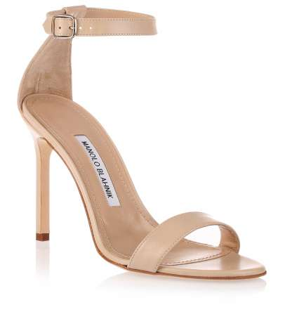 Chaos nude leather sandal Manolo Blahnik - Savannah's