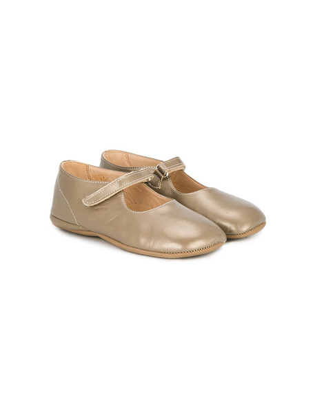 PePe slippers leather nude shoes