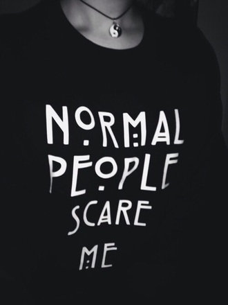 sweater american horror story jumper normal people scare me black sweater white sweater ahs season shirt
