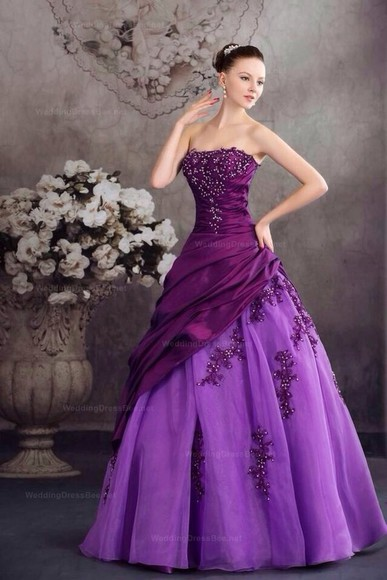dress purple dress ball gown bling tool skirt. silky