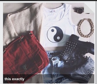 bag red red bag burgundy style satchel bag satchel hangbag punk grunge jacket shoes