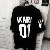 shirt,neon genesis evangelion,black,shinji ikari,ikari,eva 01,anime,manga