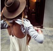 hat,brown,beautiful,tank top