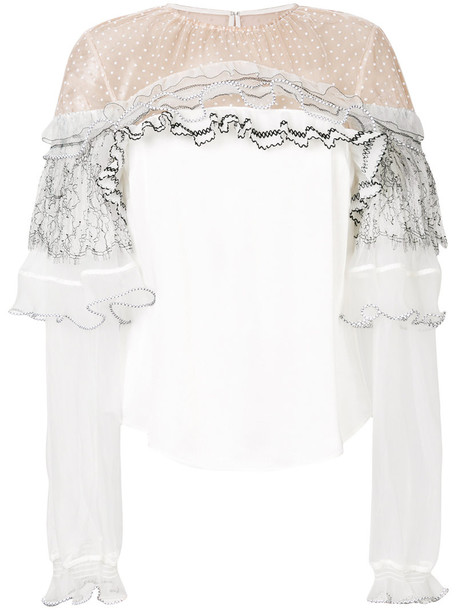 blouse women lace white top