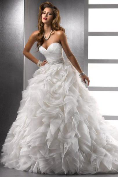 Dress Wedding Dress Wedding White Dress Bustier Dress Bustier