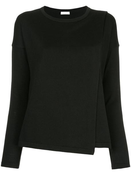 top women black wool