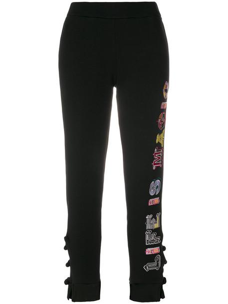 Katya Dobryakova - Magic sweatpants - women - Cotton/Spandex/Elastane - M, Black, Cotton/Spandex/Elastane