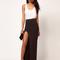 Cool girl sexy package hip slit skirts fold side slit slim maxi skirt at au